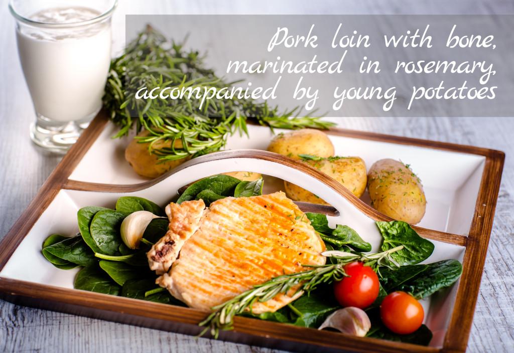 Pork loin with bone